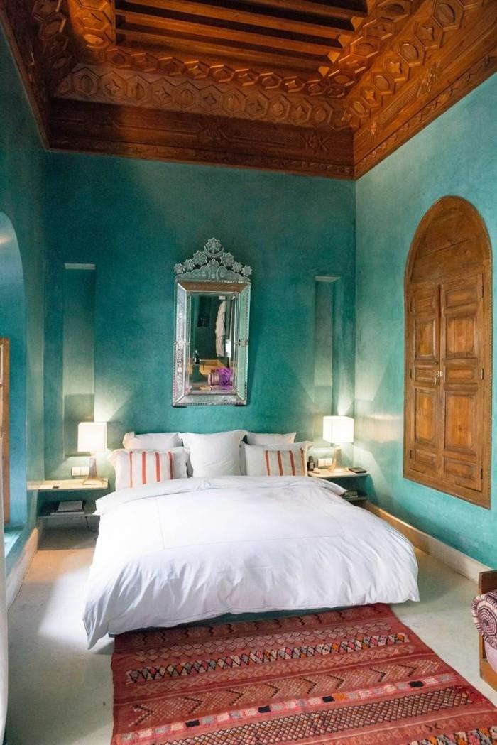 wandfarbe-türkis-einmaliges-modell-schlafzimmer