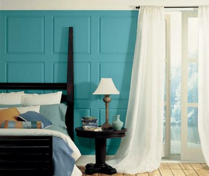 wandfarbe-türkis-unikales-modell-schlafzimmer-design