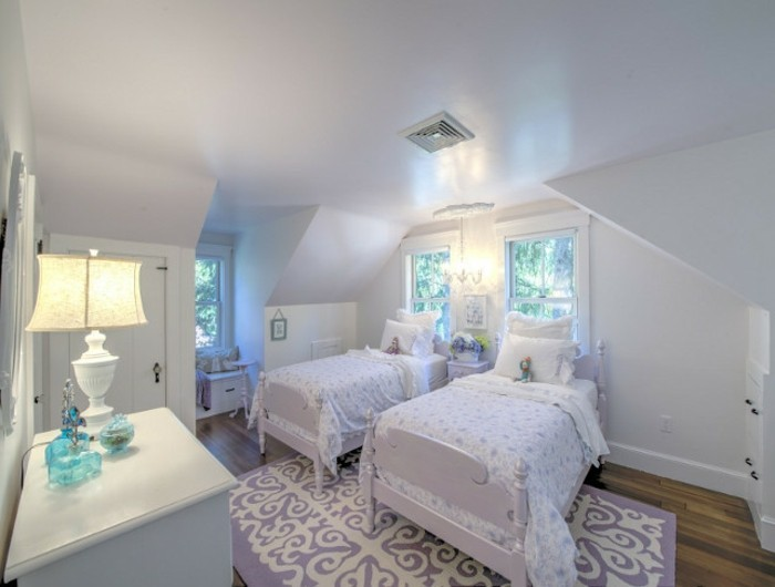 Wandfarbe Weiß Einmaliges Design Schlafzimmer