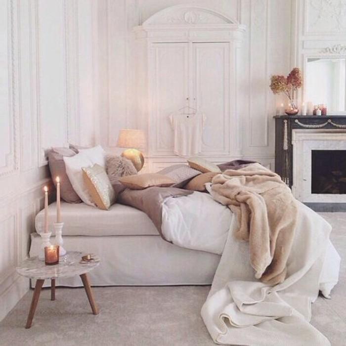 wandfarbe-weiß-sehr-romantisches-schlafzimmer