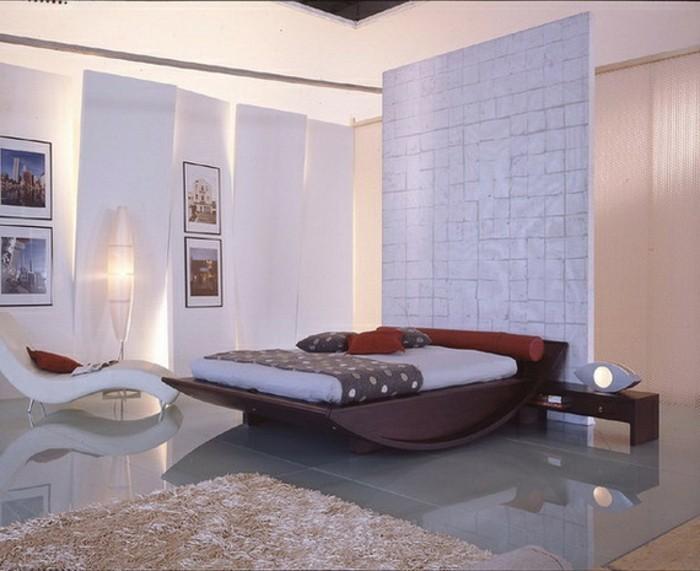 Wandfarbe Weiß Unikales Schickes Schlafzimmer
