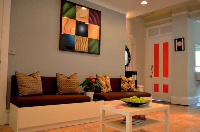wandfarbe wohnzimmer modern. Black Bedroom Furniture Sets. Home Design Ideas