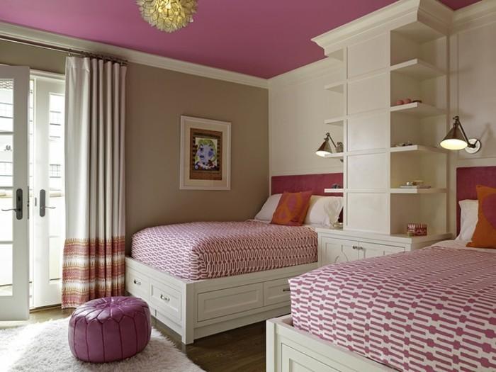 wandfarben-ideen-kreatives-modell-schlafzimmer-rosige-nuancen
