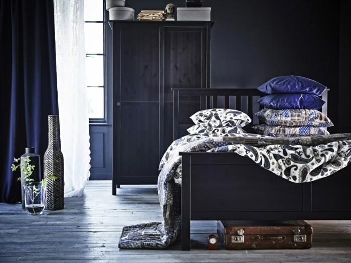 Wandgestaltung Mit Farbe Attraktives Schlafzimmer Modell