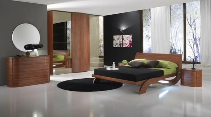 wandgestaltung-mit-farbe-modernes-schlafzimmer-in-grau-und-braun