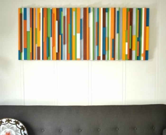 wandgestaltung-mit-farbe-wunderschöne-diy-idee-für-wohnzimmer