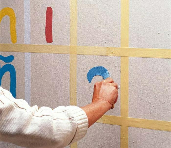 wandgestaltung-selber-machen-kreative-dekoideen-mit-nummern