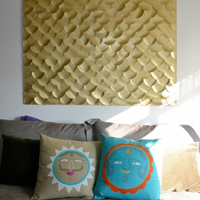 wandgestaltung-selber-machen-sehr-kreative-idee-für-diy-deko