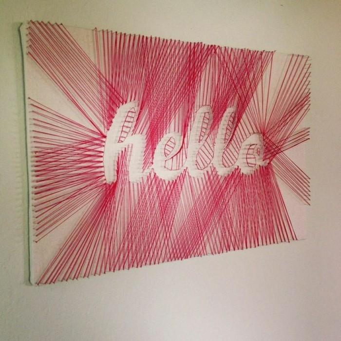 wandgestaltung-selber-machen-sehr-kreative-wanddeko-mit-roten-fäden