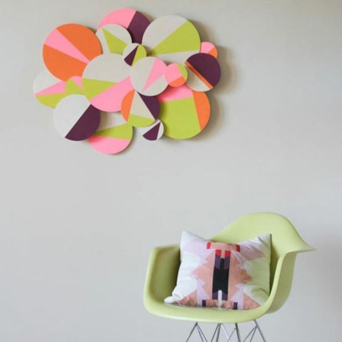 wandgestaltung-selber-machen-wunderschönes-design-papier-blumen