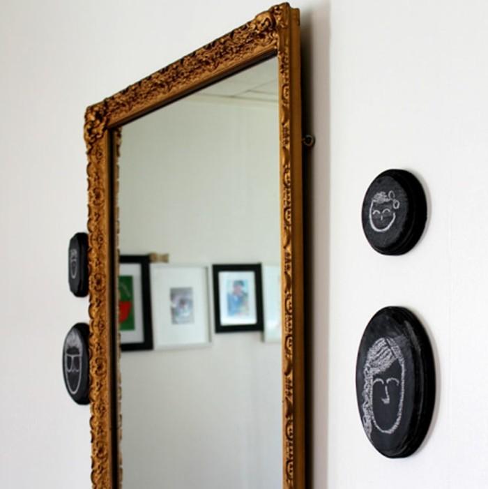 wandgestaltung-selber-machen-wunderschönes-modell-spiegel