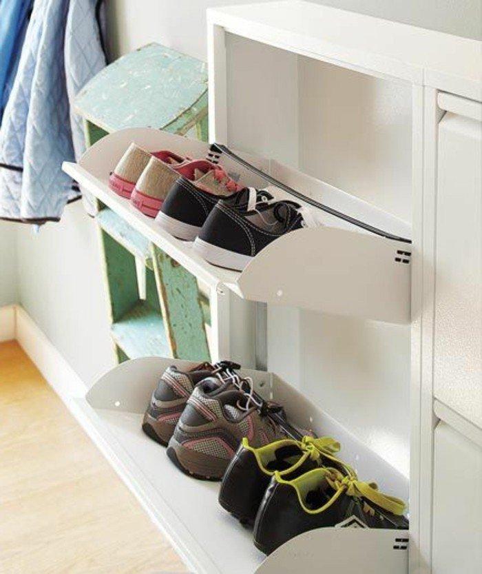 weiße-Schuhschränke-für-Kinder-Schuhe