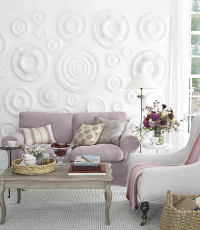 Stunning Wohnideen Wohnzimmer Tapete Gallery - House Design Ideas ...