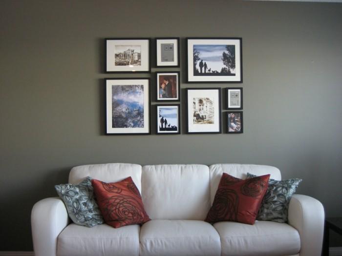 wohnzimmer-modern-und-schön-gestalten -interessante-bilderwand