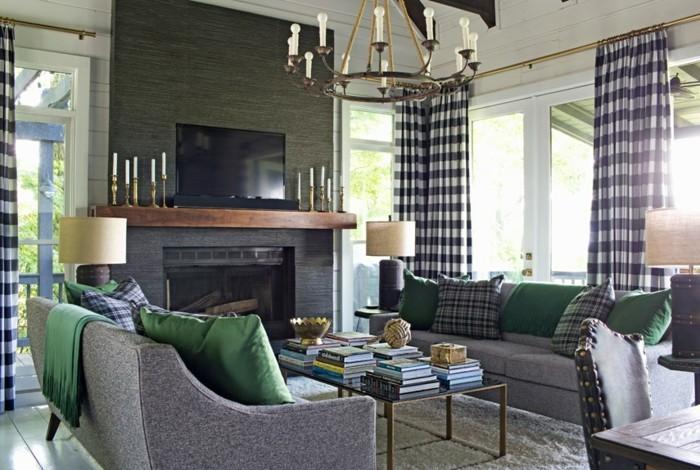 wohnzimmer-renovieren-dunkle-wandgestaltung-moderne-möbel
