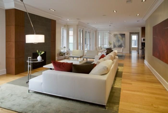 wohnzimmer-streichen-ideen-helle-farben-modernes-weißes-sofa