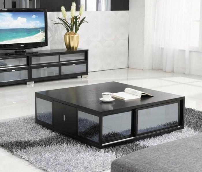 wohnzimmer-streichen-ideen-weiße-wände-und-schwarze-möbel