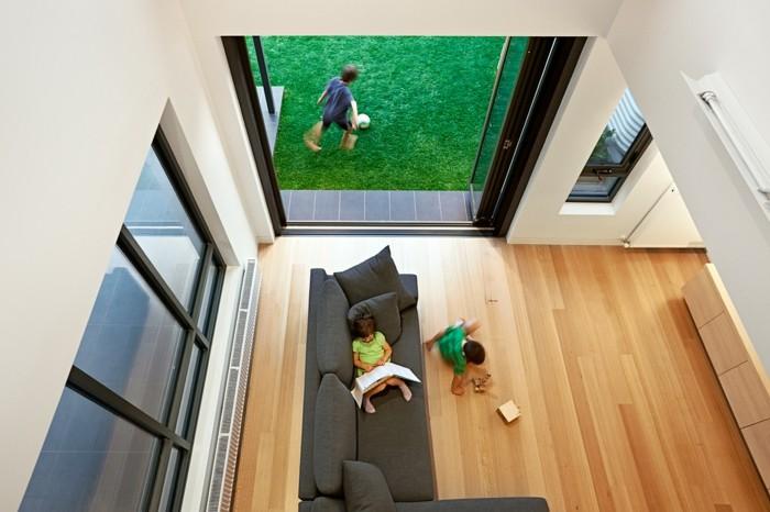 wunderschönes wohnzimmer - foto von oben genommen