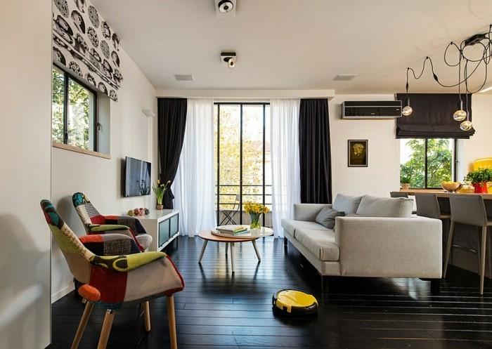 wohnzimmerwand-ideen-interessante-moderne-dekorationen