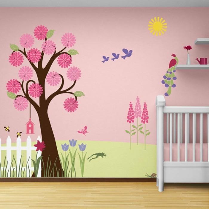 zimmer-tapeten-für-mädchen-babyzimer-schön-und-gemütlich-ausstatten