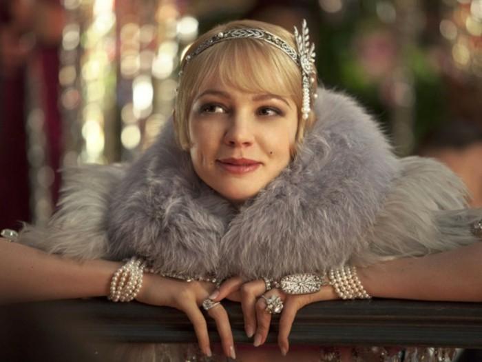 schicke elegant angekleidete dame - 20er jahre style inspiriert
