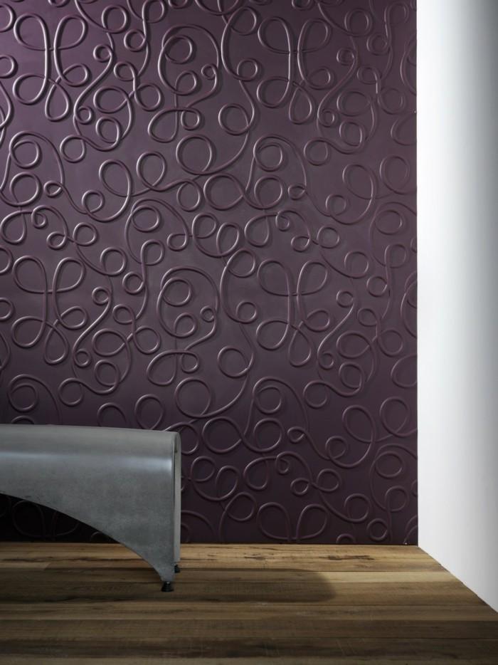 3d tapete fr eine tolle wohnung - Tapeten Lila Farbe Wandgestaltung