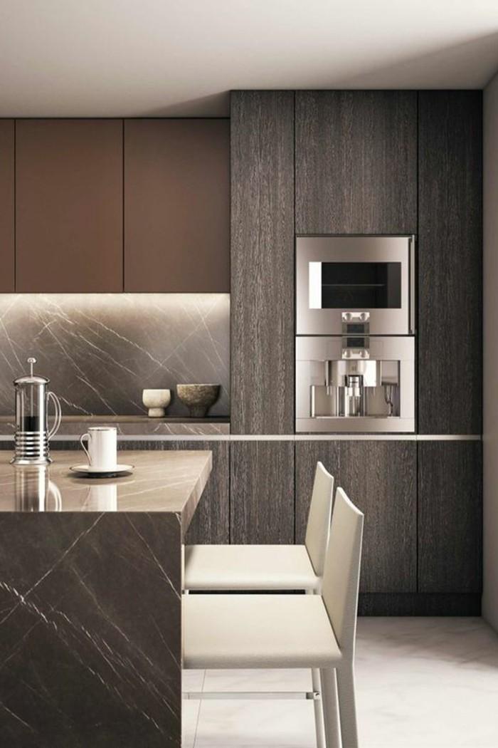 Arbeitsplatte-Marmor-grau-moderne-küche