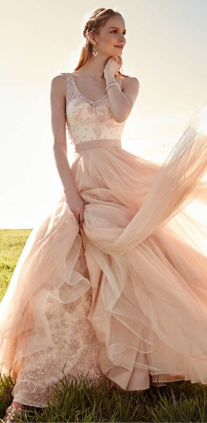 Rosa-Brautkleid-schleife