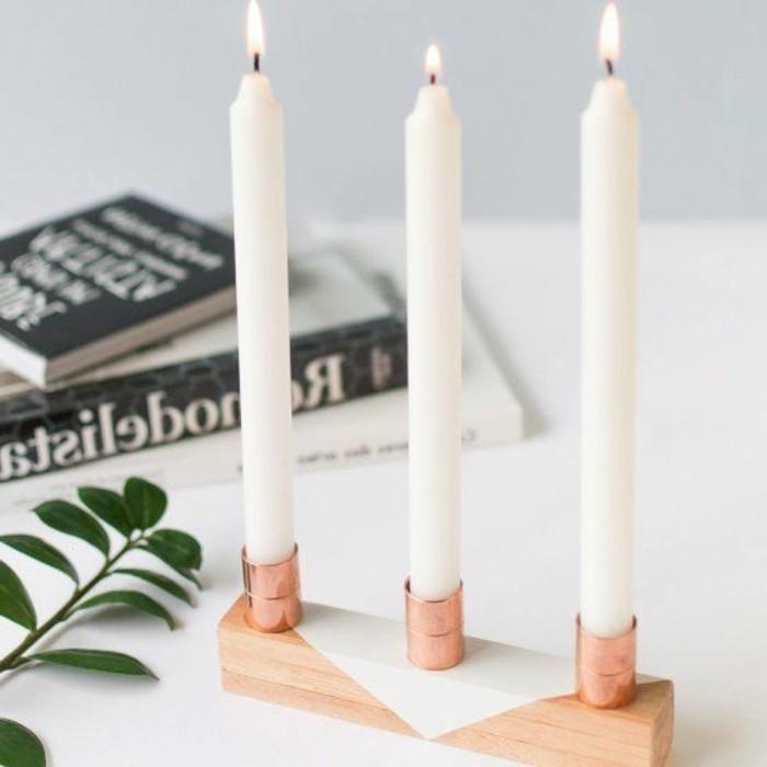 DIY-Projekt-Kerzenhalter-basteln-hölzerne-Basis-Kupfer-Ringe