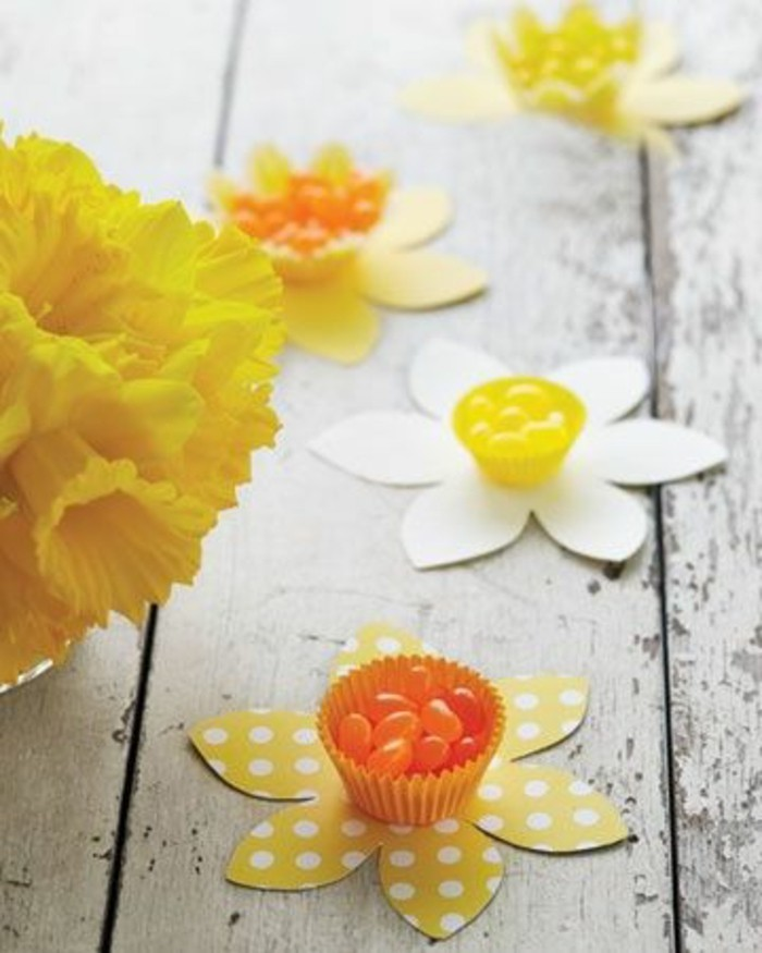 Dekoideen-für-den-Frühling-aus-papier-basteln