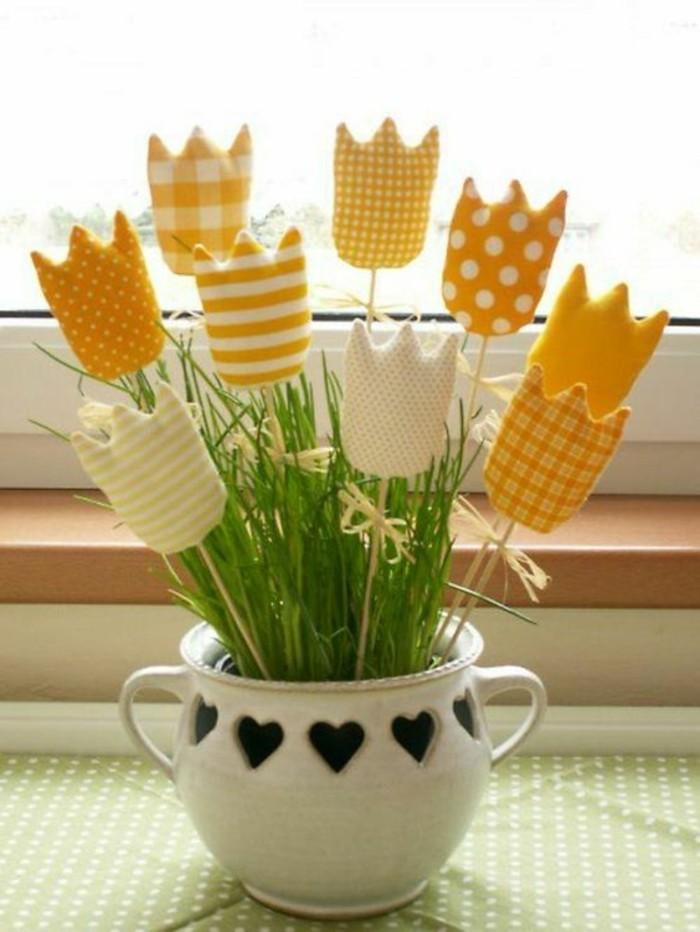 Dekoideen-für-den-Frühling-bastel-tulpe-tischdeko