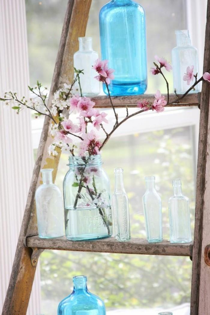 Dekoideen-für-den-Frühling-blau-und-weiss-pink-