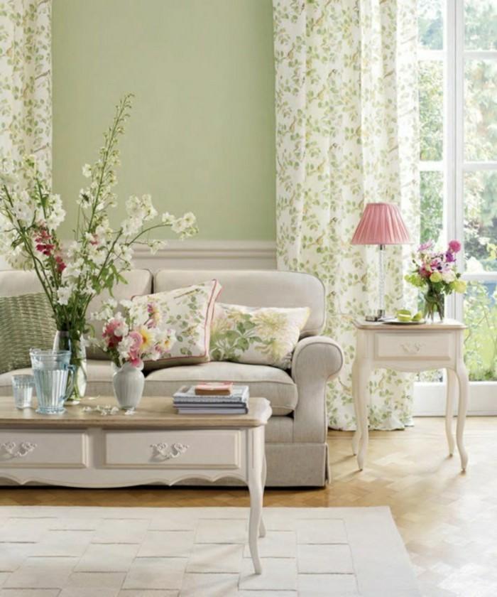 wohnzimmer dekoration braun