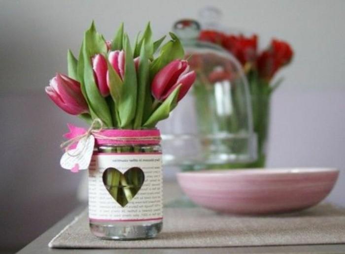 Tischdeko frühling tulpen  Liebevolle Dekoideen für den Frühling - Archzine.net