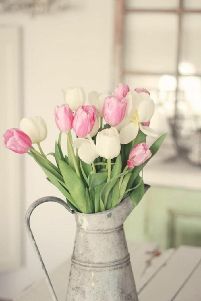 Dekoideen-für-den Frühling-mit-tulpen