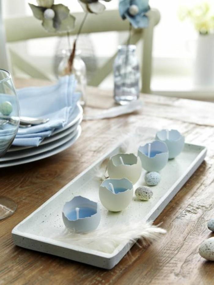 Dekoideen-für-den-Frühling-osterdeko-weiss-und-blau