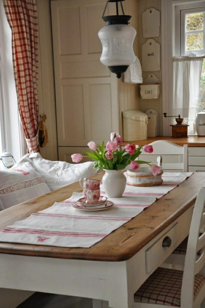 Dekoideen-für-den-Frühling-rosa-tulpe-tischdeko