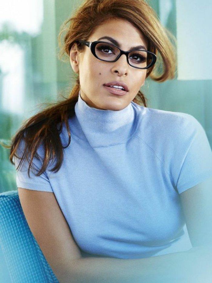 Eva-Mendes-mit-global-eyeglasses-Brillen-ohne-Sehstärke