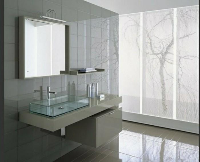 Glas-Waschbecken-beige-farben