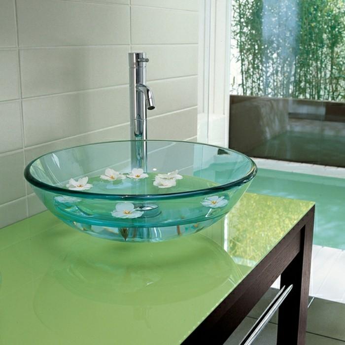 Glas-Waschbecken-glanz-optik-grüne-farbe