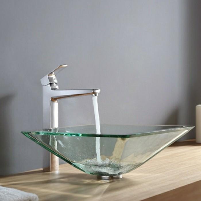 Glas Waschbecken Mit Modernem Design Für Kleines Badezimmer