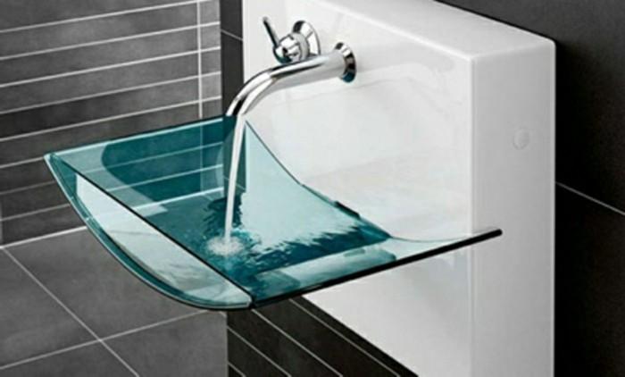 Erstaunliche Glas Waschbecken Modelle für jedes Badezimmer ~ Waschbecken Zum Draufstellen