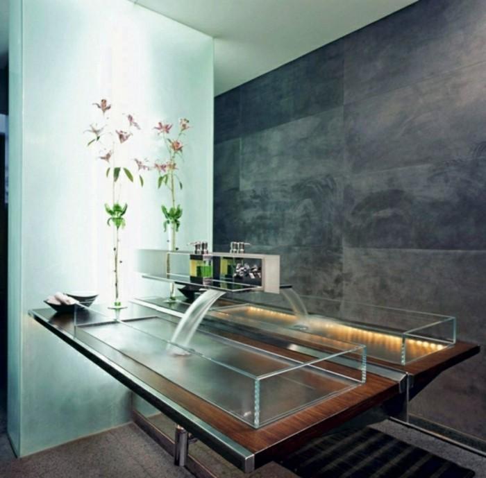 Glas-Waschbecken-wandgestaltung-steinwand