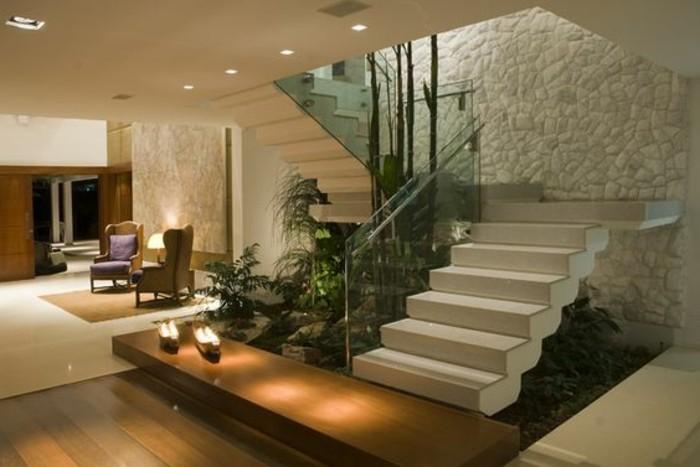 Glasgeländer-Treppe-moderne-gestaltung-