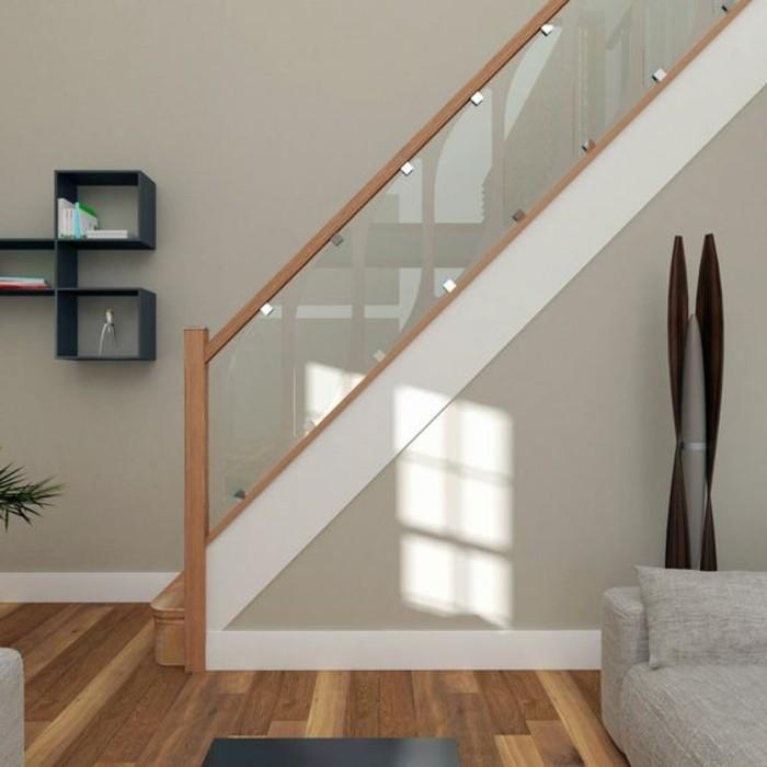 Glasgeländer-Treppe-modernes-haus-design