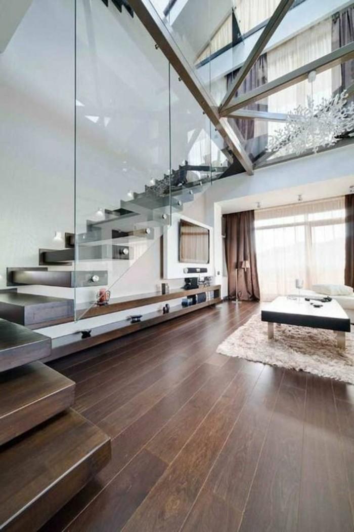 treppe mit glasgel nder f r schickes interieur. Black Bedroom Furniture Sets. Home Design Ideas