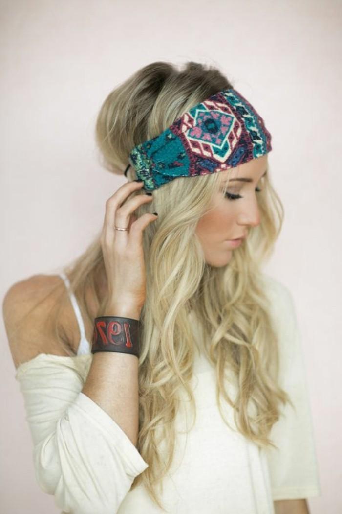 Hippie-Haarband-mit-schönem-Muster