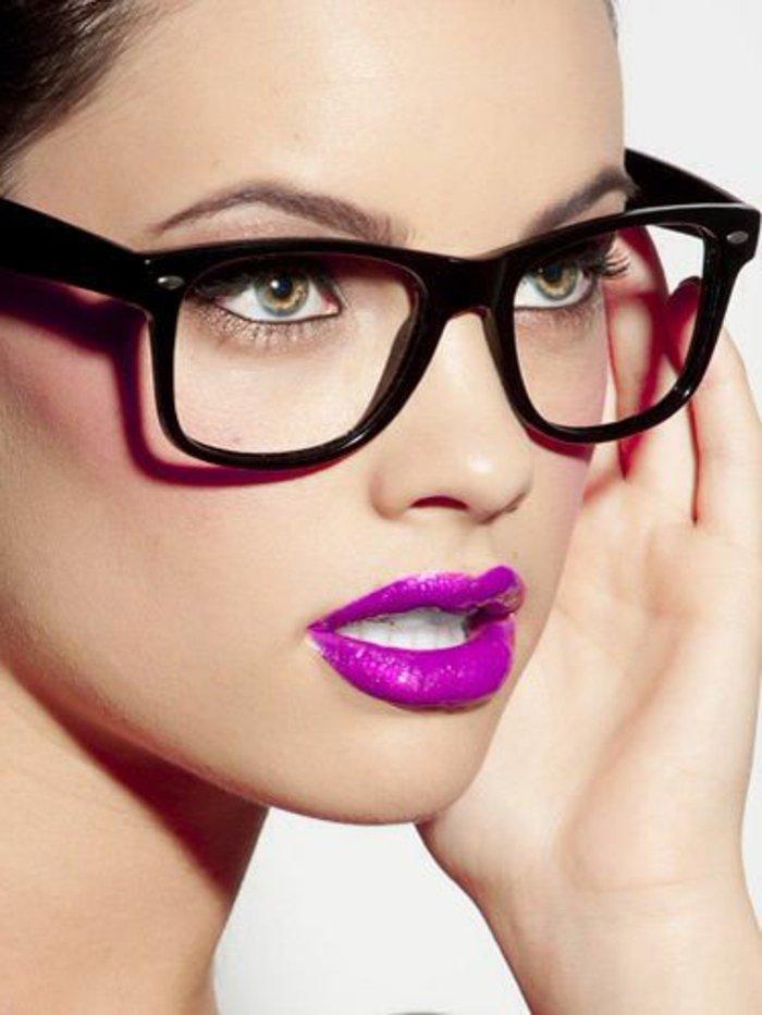 Nerd-Brillen-schönes-Unisex-Modell-in-Schwarz