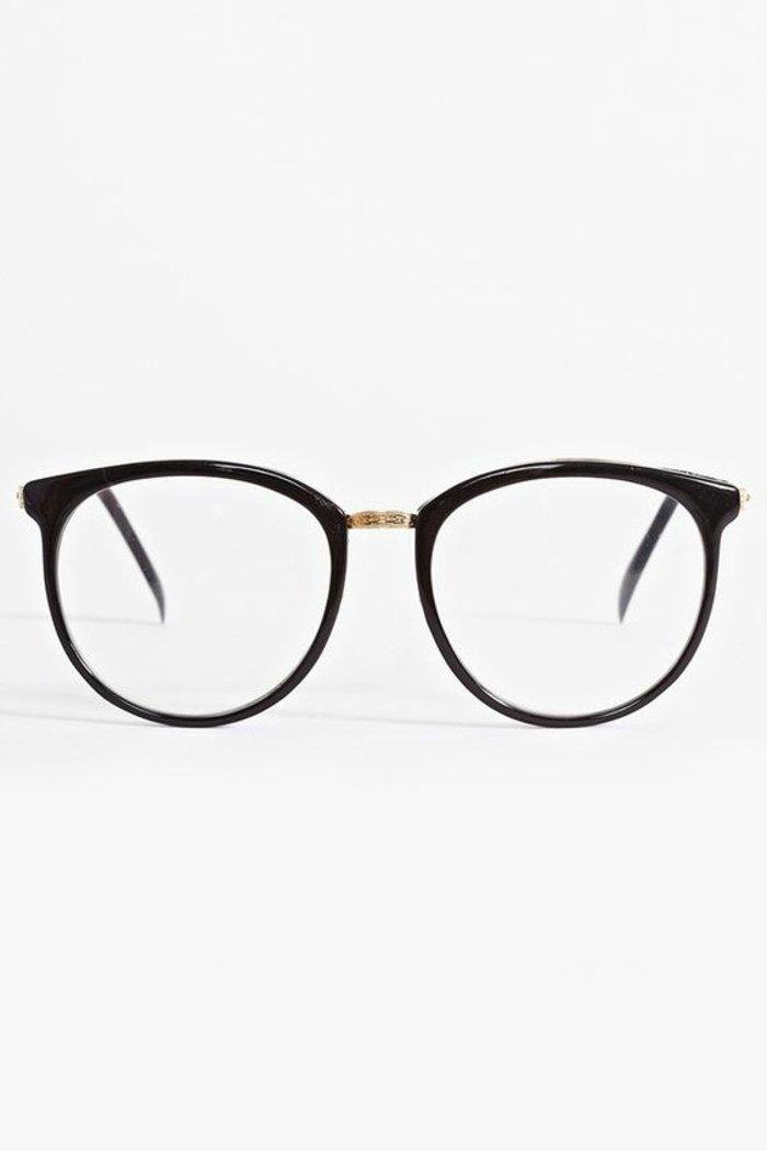 Hipster-Brillen-schlichtes-Modell-in-Schwarz