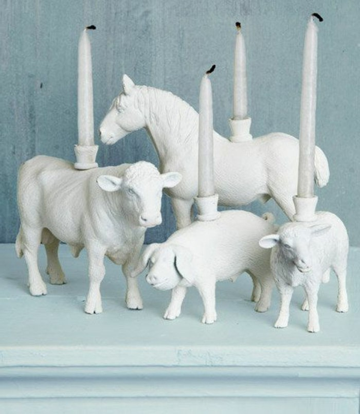 Kerzenhalter-basteln-keramische-Figurinen-Tiere